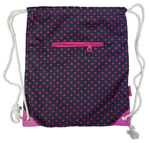 Polka Dot Drawstring Backpack Cinch - orangeshine.com