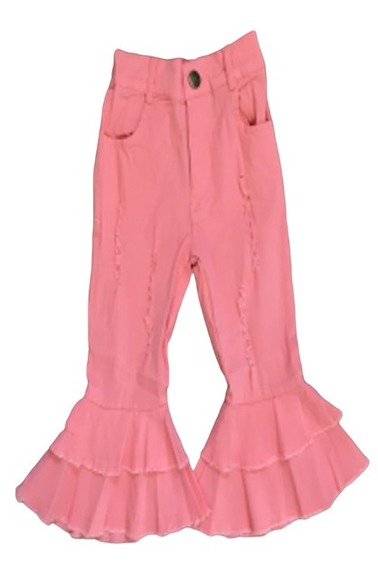 Double layer pink bell bottom pants - orangeshine.com