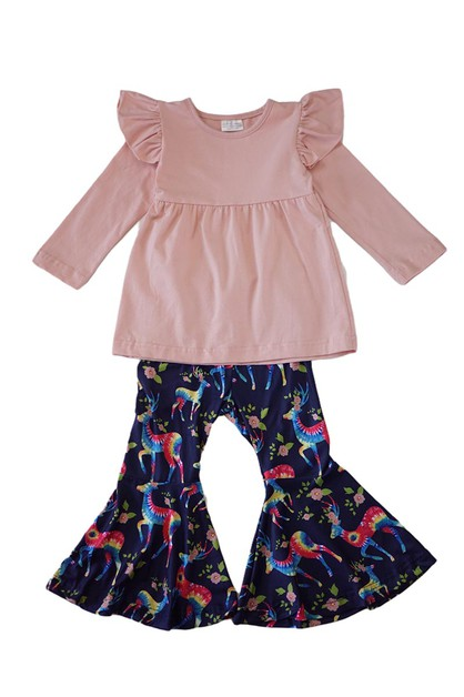Tie dye deer bell pants set - orangeshine.com