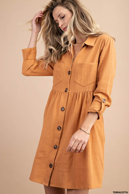 BUTTON DOWN SHIRTS  DRESS - orangeshine.com