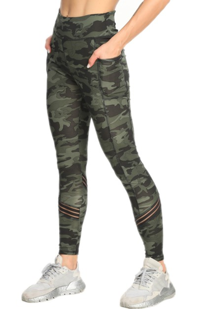 CAMO Print  Pocket Yoga Legging - orangeshine.com