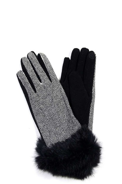 FASHION STYLISH GLOVES WITH RABBIT F - orangeshine.com