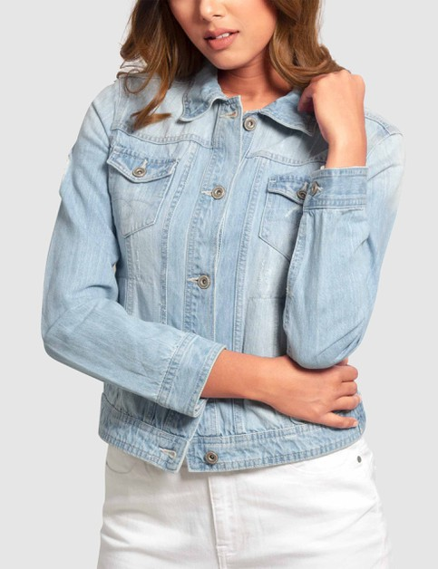 Denim Jacket with Embroidery - orangeshine.com