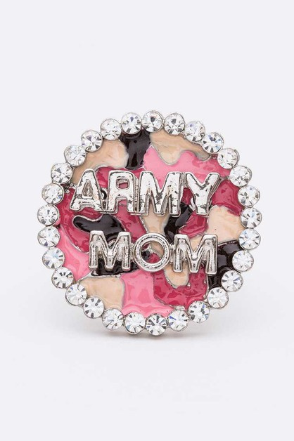 Army Mom Crystal Camoflage Print Str - orangeshine.com