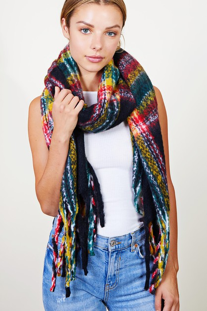 Abstract Muti Color Soft Scarf - orangeshine.com
