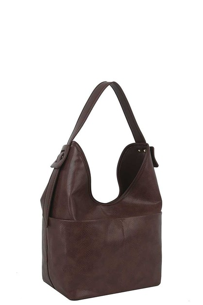 FASHION PLAIN STYLE LEATHER HOBO BAG - orangeshine.com