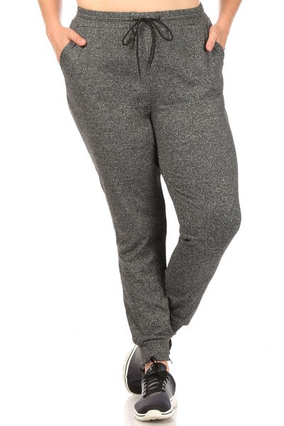 Plus Size Solid Joggers Sweat Pants - orangeshine.com