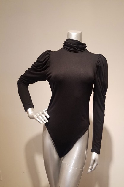 puff sleeve turtle neck body suit - orangeshine.com