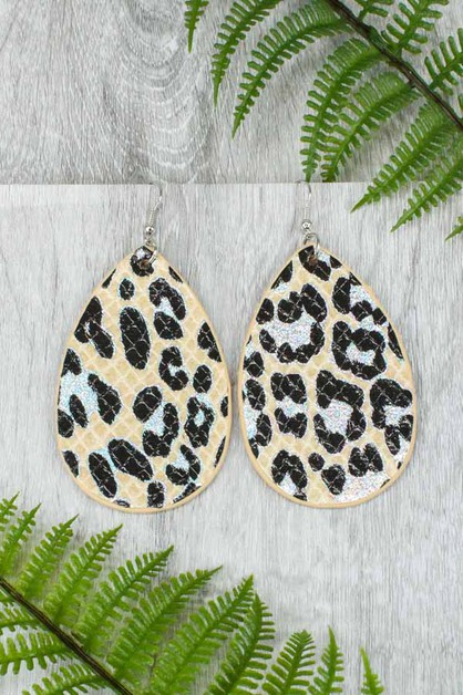 Leopard Earrings - orangeshine.com