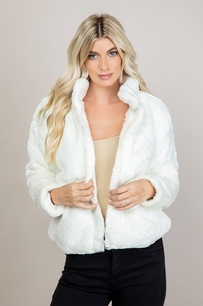 Fluffy Faux Fur Shaggy Jacket Coat - orangeshine.com