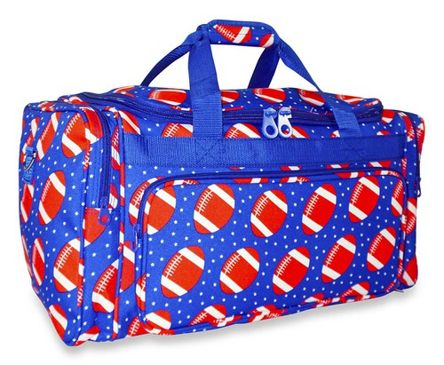 Football Print Duffle Bag 19 inch - orangeshine.com
