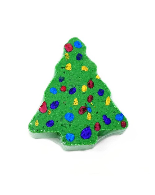 Christmas Tree Bath Bombs - orangeshine.com