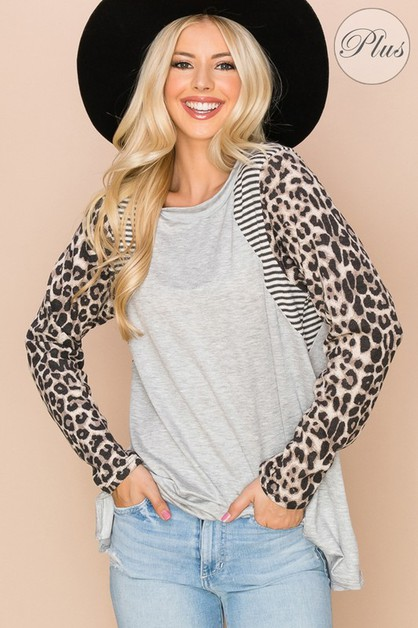 Casual Solid Printed Relaxed Fit Top - orangeshine.com