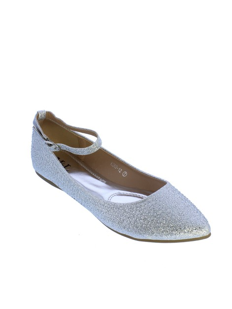 ML Women Dressy Ballerina in Silver - orangeshine.com