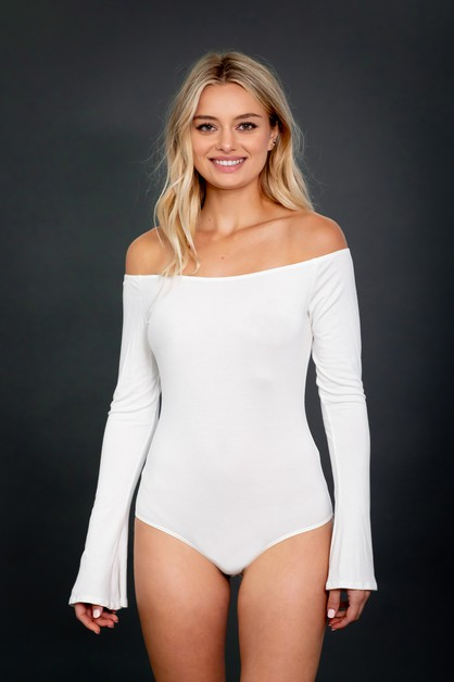 Off Shoulder Bodysuit - orangeshine.com