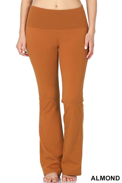 PREMIUM COTTON FOLD OVER YOGA FLARE  - orangeshine.com