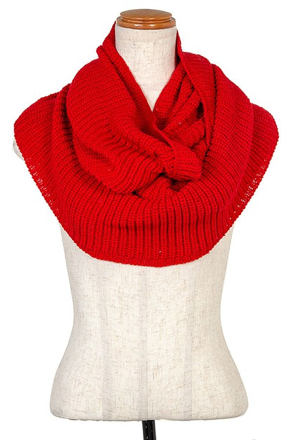 CABLE KNIT INFINITY SCARF - orangeshine.com