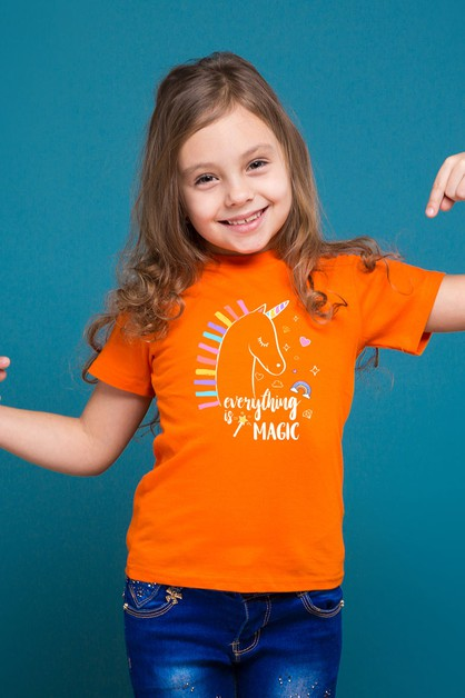Print Kids t shirt  - orangeshine.com