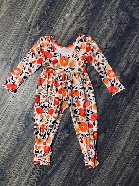 Girls Floral  Jumpsuit - orangeshine.com