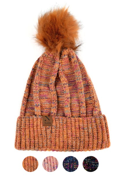 Womens Extra Soft Multicolored Hat  - orangeshine.com
