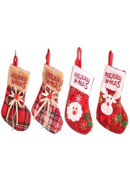 3D Xmas Stockings Pendants - orangeshine.com