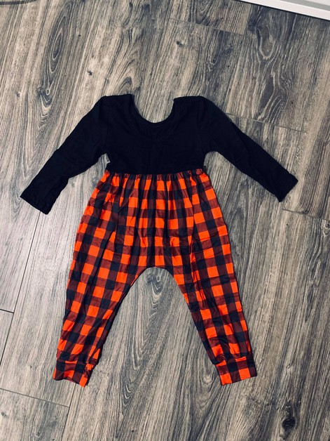 Girls Red buffalo Plaid Jumpsuit - orangeshine.com