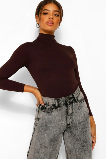 Mock Neck Bodysuit - orangeshine.com