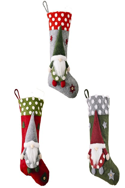Swedish Xmas Stockings Set of 3 - orangeshine.com