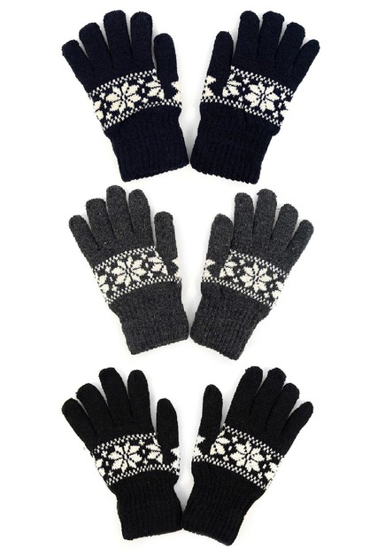 72pc Assorted Men Knit Winter Gloves - orangeshine.com