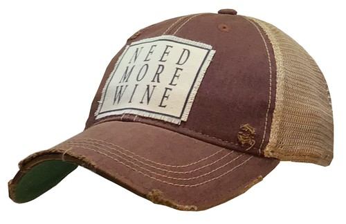 Need More Wine Trucker Hat - orangeshine.com