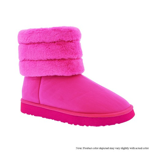 Women Fur Lined Winter Booties - orangeshine.com