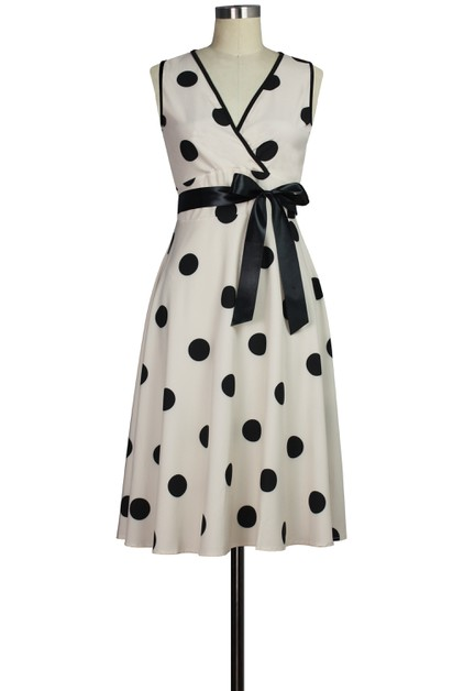 Polka-dot Wrap Dress - orangeshine.com