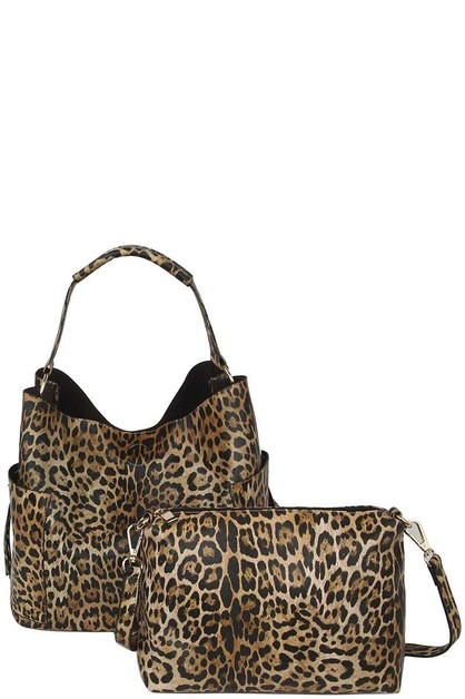 ANIMAL CHEETAH HOBO BAG WITH MATCHIN - orangeshine.com