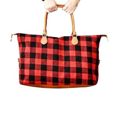 Plaid Weekender travel bags - orangeshine.com