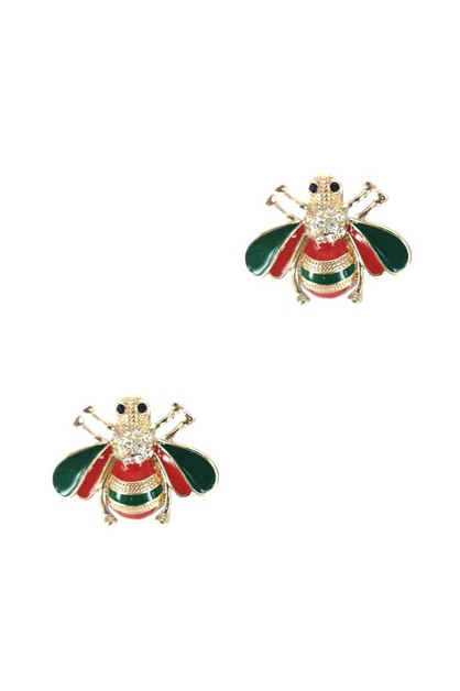 FASHION BEE STUD EARRING - orangeshine.com