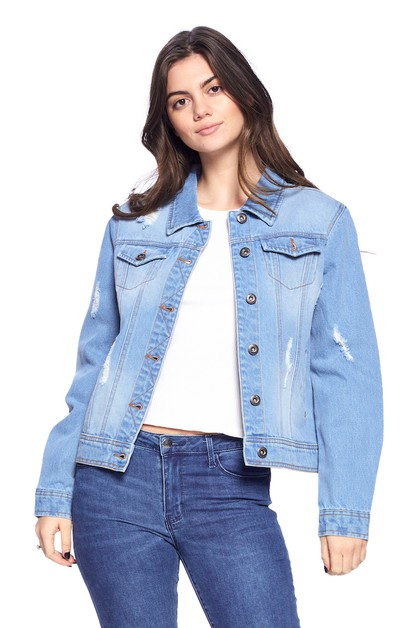 CASUAL COMFORT DENIM JACKET Cotton - orangeshine.com