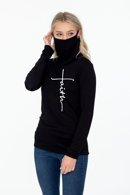 LONG SLEEVE NECK GAITER FACE TOP  - orangeshine.com