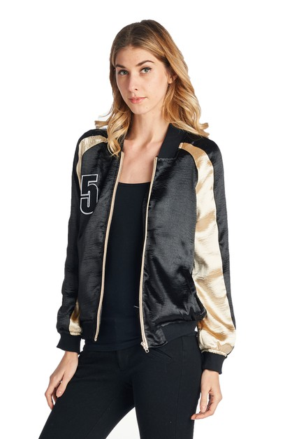 WOMENS BASEBALL BOMBER JACKET - orangeshine.com