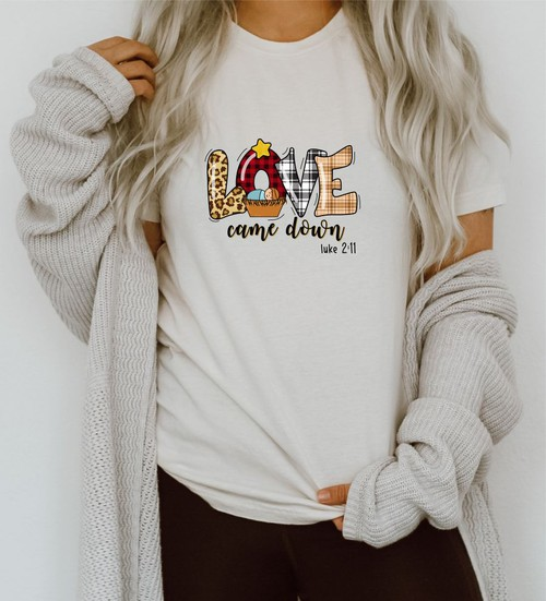 Love Came Down Crew Neck Tee  - orangeshine.com