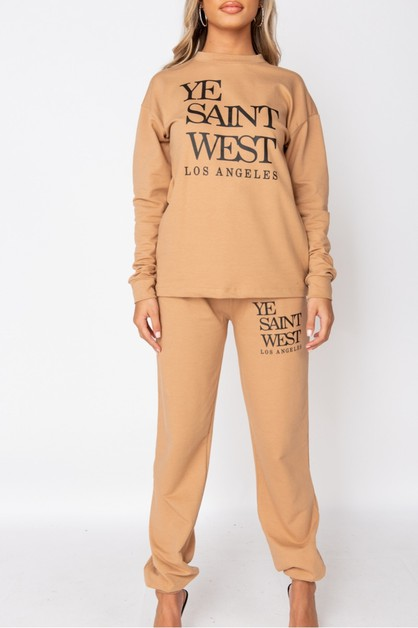 Ye Saint West Jogger Set - orangeshine.com