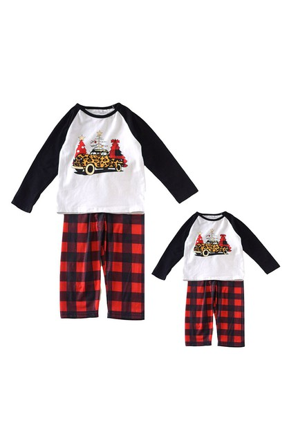 Christmas tree plaid pajama set - orangeshine.com