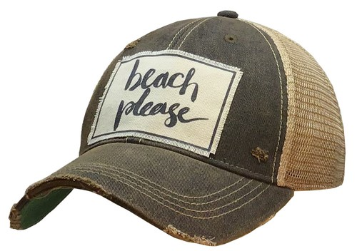 Beach Please Trucker Hat - orangeshine.com