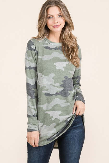 RELAXED FIT CAMO TUNIC  - orangeshine.com