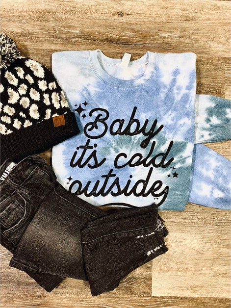 baby its cold outside tie dye  - orangeshine.com