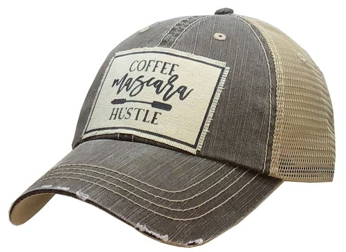 Coffee Mascara Hustle Trucker Hat - orangeshine.com