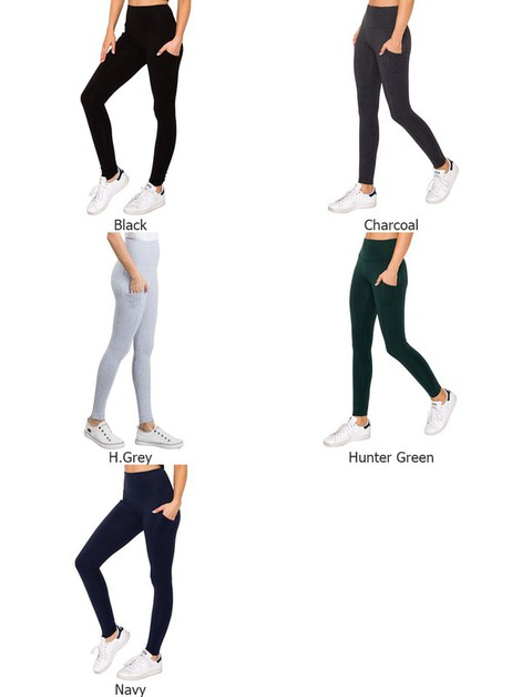 Curvy Cell Phone Pocket Leggings - orangeshine.com