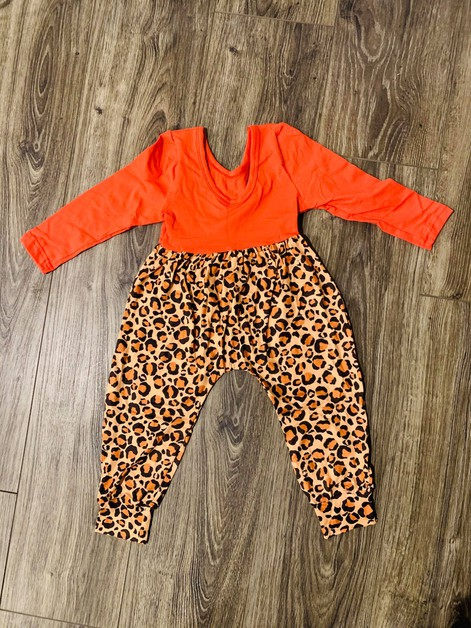 Girls Leopard  Jumpsuit - orangeshine.com