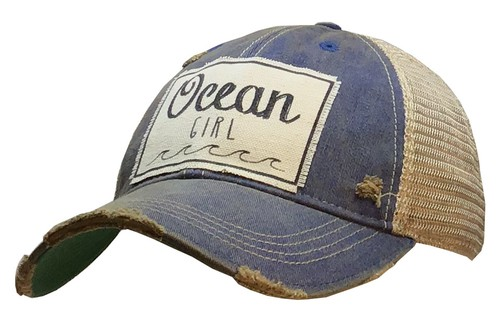 Ocean Girl Trucker Hat - orangeshine.com