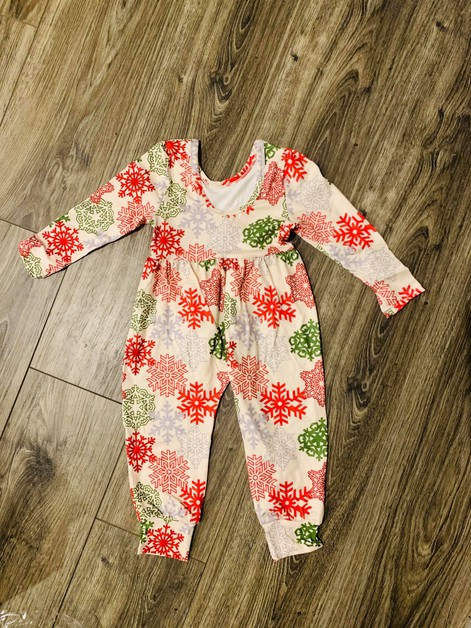 Girls Pretty snowflakes Jumpsuit - orangeshine.com