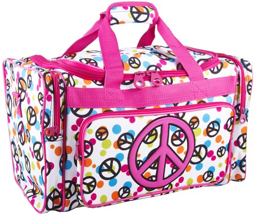 Peace Sign Duffle Bag 19 inch - orangeshine.com